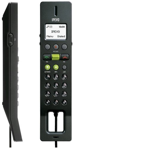 IPEVO FREE.2 USB Handset for SKYPE with LCD Screen (Black) [Electronics