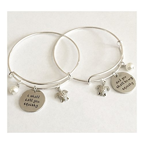 AnnaKJewels I shall call you squishy and you shall be my squishy (set of 2 bangles) Hand stamped (Call Shall)