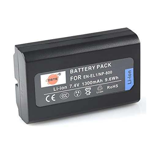 (DSTE Replacement for EN-EL1 Li-ion Battery Compatible Nikon Coolpix 4300 4500 4800 5400 5700 8700 880 885 99 E880 Konica Minolta DG-5W Dimage A200 Camera as NP-800)