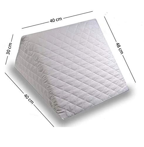 ZETA TEX - Cojin con Forma de Cuna para Cama y Sofa Sujecion de Espalda Almohada de Lectura 40 x 30 x 48 cm cm