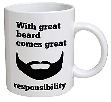 With Great Beard Comes Great Responsibility Fridge Magnet Dad Funny