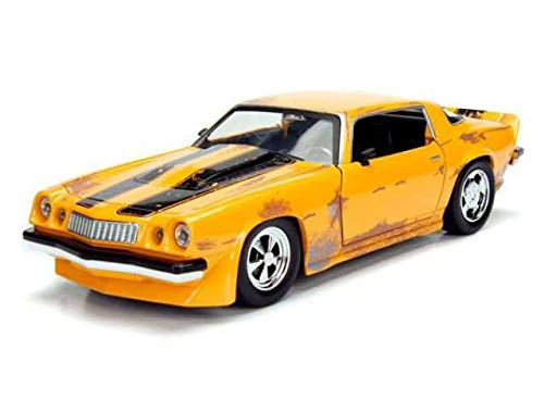 Jada Toys Studio Series Transformers Bumblebee 1977 Chevy Camaro Collectible Diecast Model Car; Yellow; 1:24 Scale ()
