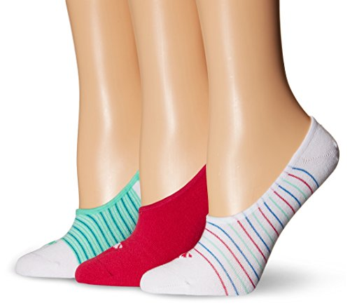 adidas Womens Superlite Super No Show Socks (3-Pack), White/Bold Pink/Shock Blue/Green Glow, One Size