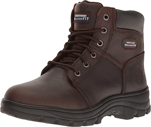 Skechers Work Relaxed Fit Workshire Fitton Womens Soft Toe Boots Dark Brown - Womens Fire Boots