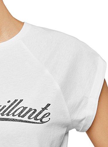 Orlo In Bianco Stampa Grezzo Oodji Cotone T Con 1000n Ultra Donna shirt Iwq8xU0v
