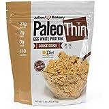 Julian Bakery Paleo Thin Protein Powder | Cookie Dough | 21g Egg White Protein | Soy Free | GMO Free | 2 Net Carbs | 1.92 LBS | 30 Servings