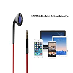 Earbuds with Microphone, PWOW 3 Pack Earbuds In Ear Headphones Wired Earphones Headphones with Control Remote Button