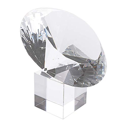 - LONGWIN Huge 150mm (5.9 in.) Crystal Polyhedron Diamond Paperweight Wedding Home Decoration Centerpieces(Clear)