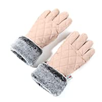 accsa Women Winter Ski Glove Waterproof 3M Thinsulate Warm Windproof Pink M