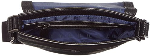 Trussardi Jeans Ottawa Borsa a Spalla, 25 cm, Nero