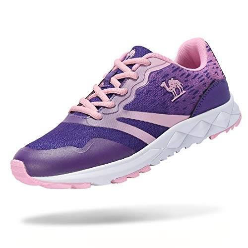 CAMEL CROWN Women's Lightweight Athletic Breathable Mesh Sneakers Sport Running Shoes Color Mauve/Pink Size 8