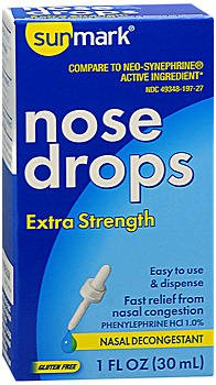 Sunmark Nose Drops Extra Strength - 1 oz, Pack of 5