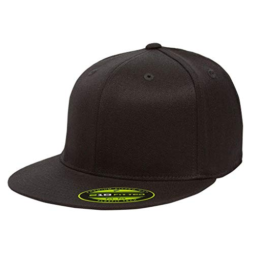 Premium 210 Flexfit Fitted Flatbill Hat with NoSweat Hat Liner (L/XL (7 1/4