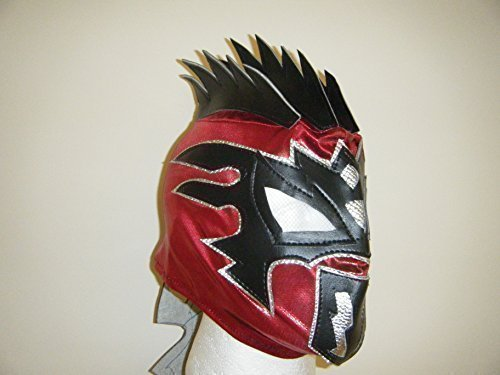 WRESTLING MASKS UK Red Kalisto - The Lucha Dragons Deluxe Childrens Zip Up Mask -