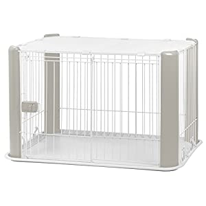 IRIS Small Wire Dog Crate with Mesh Roof, Gray Click on image for further info.