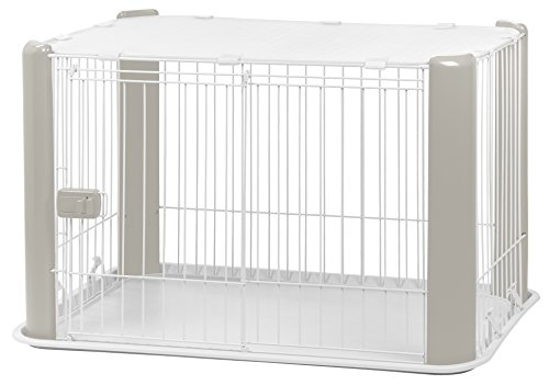 IRIS Small Wire Dog Crate with Mesh Roof, - Dog Exercise Deluxe Pen