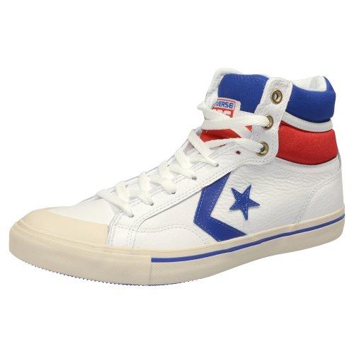 Converse Pro Blaz Lea Hi, Baskets mode mixte adulte Bianco (Weiß / Blau / Rot)