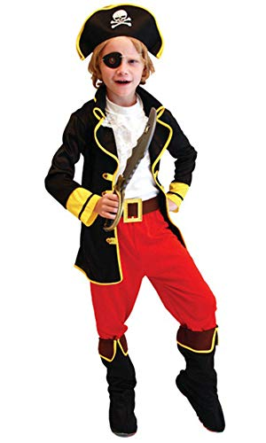 stylesilove Kid Boys Halloween Costume Cosplay Outfit Themed Birthdays Party (Pirate King, M/4-6 Years) -
