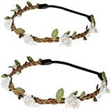 Daisyu Baby and Mom Flower Crown Headband Parent-Child Hair Band Floral Baby Crown