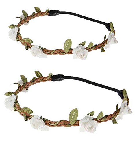 Daisyu Baby and Mom Flower Crown Headband Parent-Child Hair Band Floral Baby Crown (Crown Head Band)