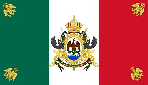 - DIPLOMAT-FLAGS Second Mexican Empire Flag | Landscape Flag | 0.06m² | 0.65sqft | 20x30cm | 8x12in Car Flag Poles