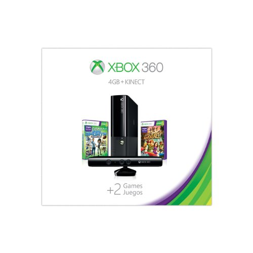 Xbox 360 4GB Kinect Holiday Value Bundle features two great games: Kinect Sports: Season Two and Kinect Adventures