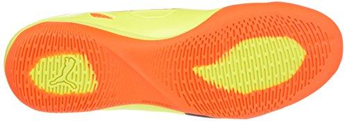 Puma EvoSPEED Sala 1.5 Hallenfußballschuh Indoor Schuhe Herren gelb schwarz orange