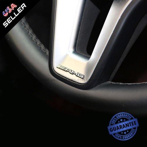 US85 Mercedes-Benz Car AMG Steering Wheel Emblem Aluminum Decal Sticker Badge Decoration Logo Gift