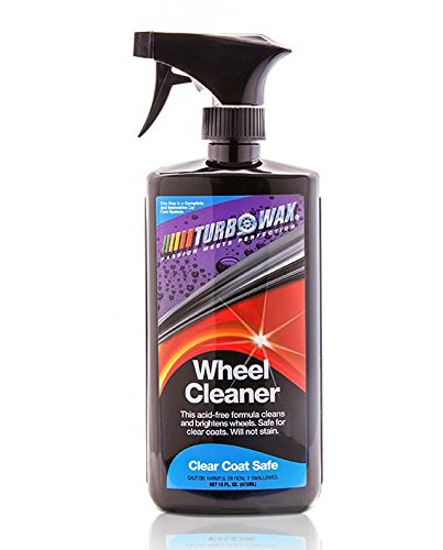 Turbo Wax Wheel Cleaner 16oz Bottle, Destroys Brake Dust, Oil, and Road Grime