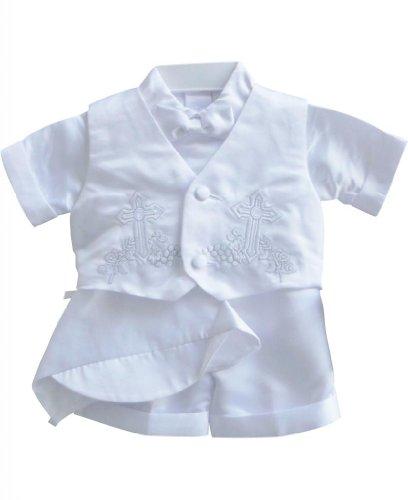 Classykidzshop White Boy Baptism Outfit B2 - Size 3T