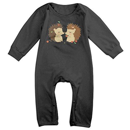 Arromper Hedgehog Love Newborn Babys Long Sleeve Baby Climbing Clothes Black 18 -
