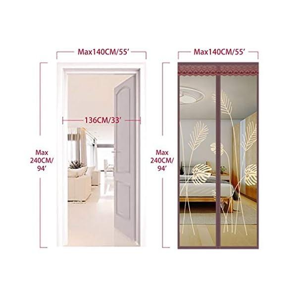 Zanzariera magnetica per porta, rete – tiene lontani le zanzare Out – bambini in età bassa e Dog Friendly (dimensioni… 5 spesavip