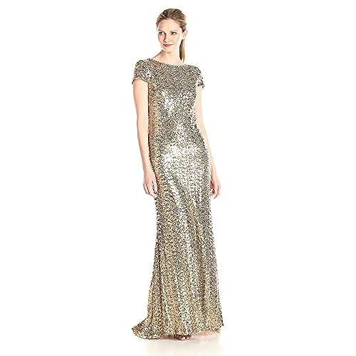 Designer Gold Dresses: Amazon.com