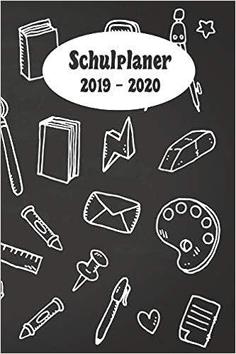 Schulplaner Timer 2019//2020 Kalender Hausaufgabebheft Schülerkalender Schwarz