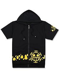 Gumstyle One Piece Anime Zipper Hoodie Short Sleeve T Shirt Cosplay Jacket