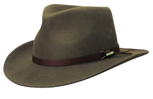 6a08a02534735 Woolrich Men s Crushable Water Repellent Wool Felt Outback Hat at ...