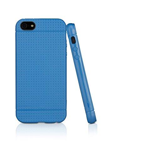BoxWave SlimGrip Coque pour Apple iPhone 5–fine pour Apple iPhone 5 Coque en TPU Durable et Anti-dérapante pour iPhone 5 (Bleu ciel)