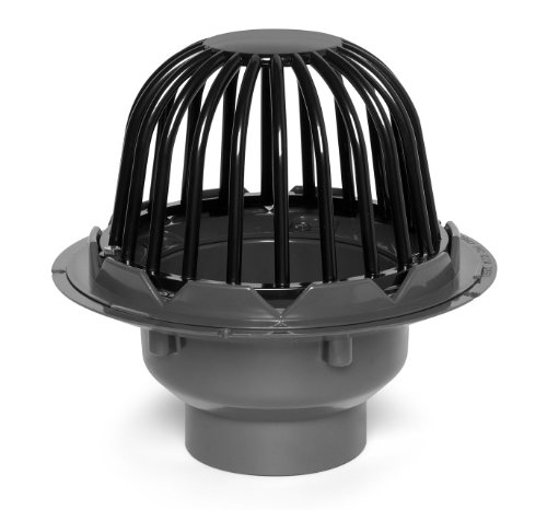 - Oatey 78023 PVC Roof Drain with Cast Iron Dome, 3-Inch