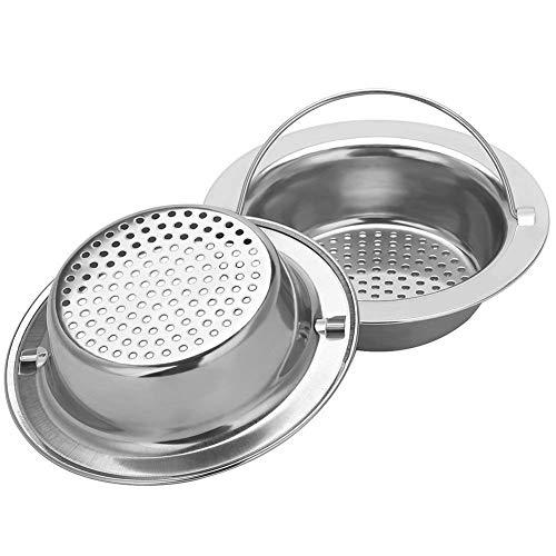 - 2PCS Upgrade Stainless-Steel Kitchen Sink Strainer (Hand-Held), Premium Drain Filter Strainer, Large Wide Rim 4.33