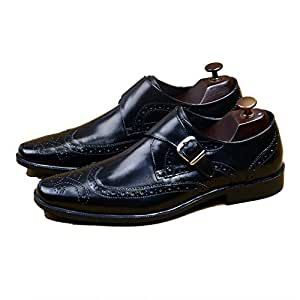 QWE Zapatos Monk para Hombre Goodyear Welted Construction Piel de ...