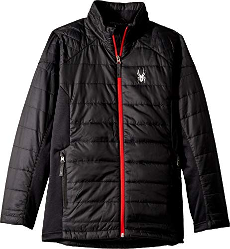Spyder Boys' Glissade Insulator Jacket, Black/Black/Red, X-Large ()