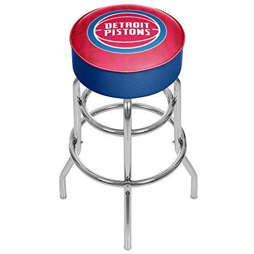 Trademark Gameroom NBA1000-DP3 NBA Padded Swivel bar Stool - City - Detroit Pistons