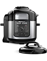 Ninja FD401 Foodi 8-Quart 9-in-1 Deluxe XL Pressure Cooker, Broil, Dehydrate, Slow Cook, Air Fryer, and More, with a Stainless Finish
