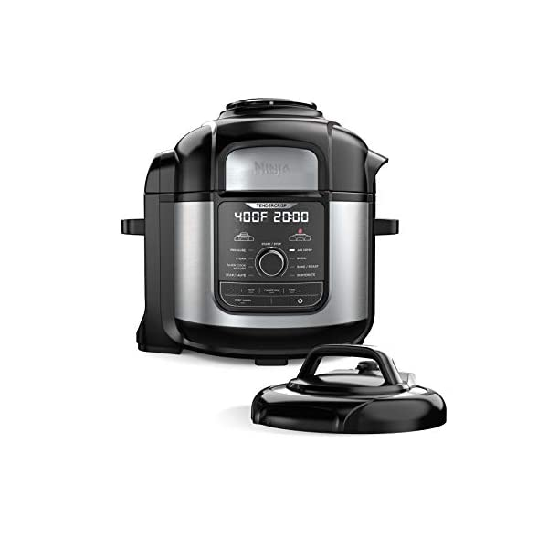 Ninja FD401 Foodi 8-Quart 9-in-1 Deluxe XL Pressure Cooker, Broil, Dehydrate, Slow Cook, Air Fryer, and More, with a… 1