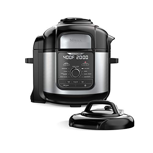 Ninja FD401 Foodi 8-Quart 9-in-1 Deluxe XL Pressure Cooker, Broil, Dehydrate, Slow Cook, Air Fryer, And More, With A…