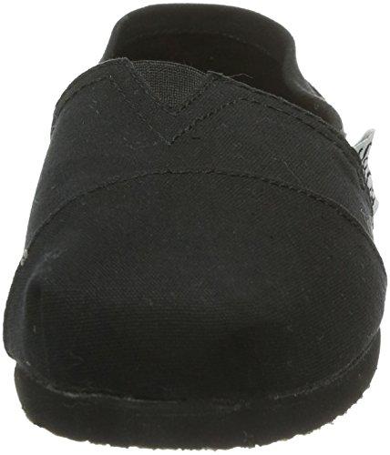 37753 Mujer lona Zapatos de BLK Negro Skechers AHRqd4A