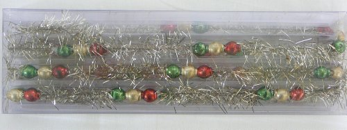 Glass Garland - Christmas Bead 6 feet in length (Garland Glass Bead)
