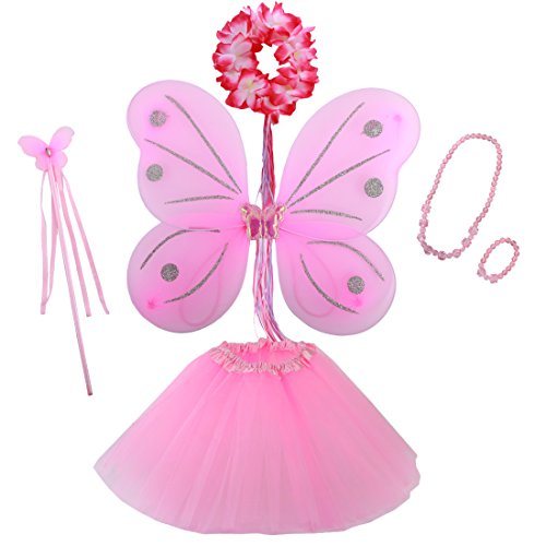 kilofly Princess Party Favor Jewelry Fairy Costume Dress Up Role Play Value (Cheap Costumes Jewellery)