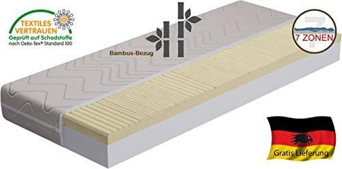 HALMAR RO10 - 6-R 7 de zonas de ortopédico de Visco con agua fría Cham y colchón de altura de 18 cm y también para ajustable de listones de marco de, gomaespuma,