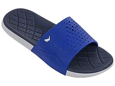 rider Men's Infinity Slide Sandal, White/Blue, 8 Medium US